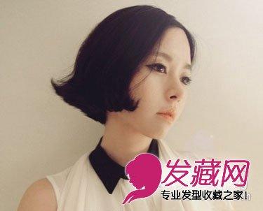 俏皮萌范的短发发型 显脸可爱的发型(6)