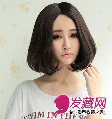 俏皮萌范的短发发型 显脸可爱的发型(7)