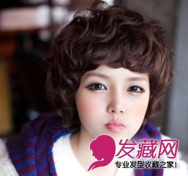 俏皮萌范的短发发型 显脸可爱的发型(8)