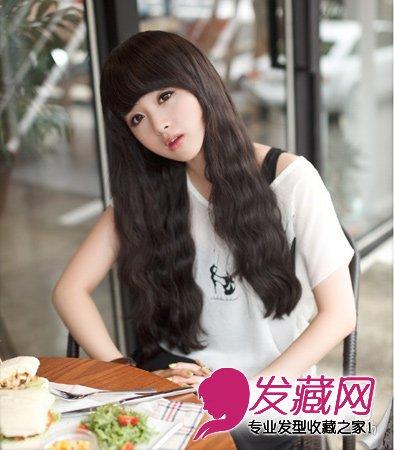 卷发发型 2015年这些烫发最好 →2015流行女生短发 清爽韩式中分短发
