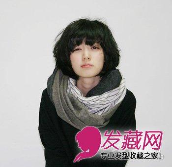 流行发型 短发发型 > 时尚的韩式短卷发烫发发型  导读:要问短发烫