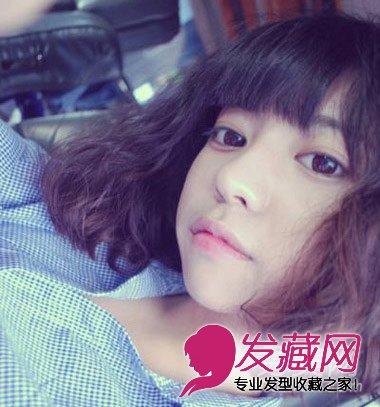 刘涛刘诗诗s      蓬松的麦穗烫短发自然可爱,搭配整齐的刘海精灵可爱图片