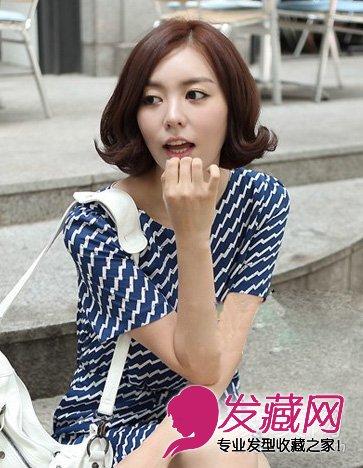 短发烫什么发型好看 时尚的韩式短卷发烫发