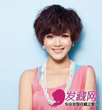 韩式中短发烫发发型分享 中短发烫发发型 标准瓜子脸发型 2014韩式中