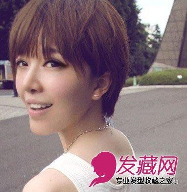甜美又复古女生短发发型(5)