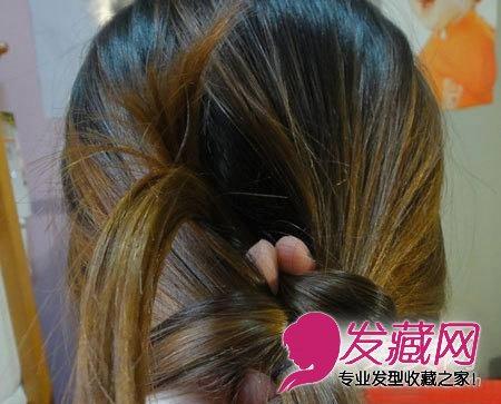 马尾辫怎么扎好看 教您盘出优雅韩式发型(5)  导读:气质马尾发型步骤