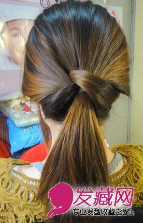 气质马尾发型步骤五:就这么简单,大概的样子图出来了!