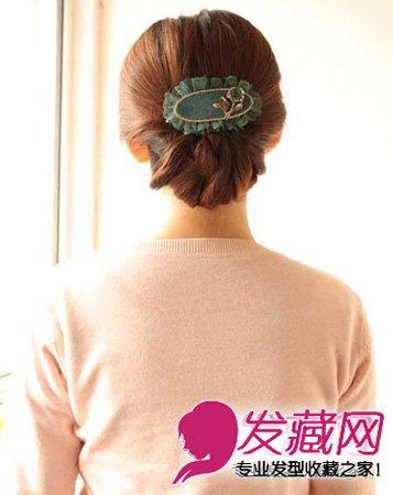 显气质的简单盘发发型 百搭气质款盘发教程(10)