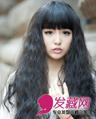 可爱减龄的圆脸 挑对刘海更时髦! →女生圆脸适合什么发型?图片