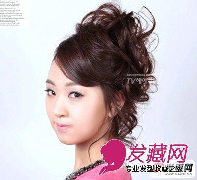 年末大热典雅韩式盘发发型图片 聚会首选(3)图片