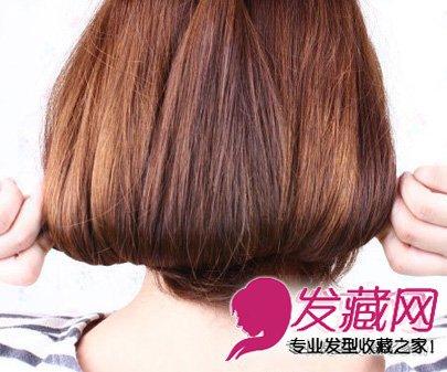 【图】最新加股辫短发盘发图解(5)