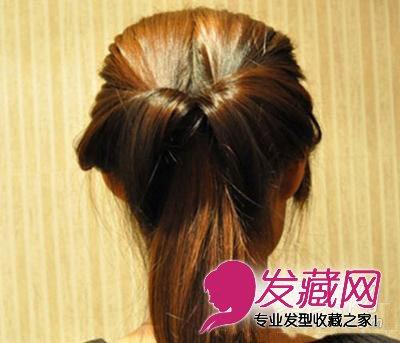 简单韩式盘发步骤 适合职场发型(4)