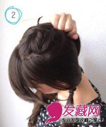 马尾怎么扎好看 韩式麻花马尾辫扎法图解(3)