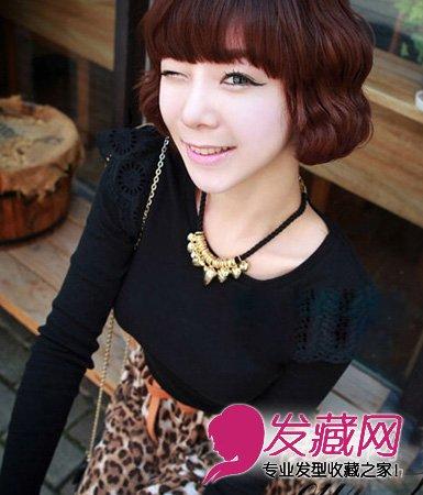 清纯甜美的短发发型 让你瞬间减龄(5)