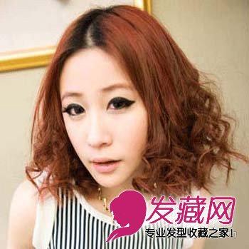 【图】齐刘海金色的蛋卷头发型