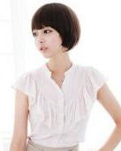 剪什么短发最澳门网上博彩娱乐官网 栗色的短发蘑菇头塑气质女人
