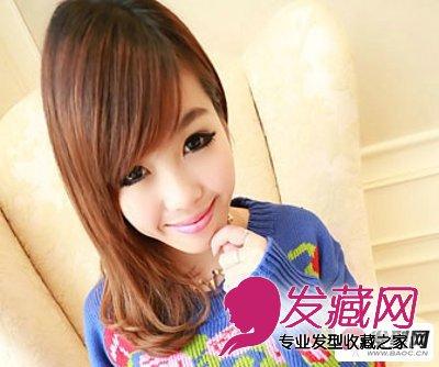 短发齐刘海发型图片 浅色系的蘑菇头短发显得俏丽可爱(2)