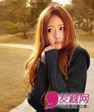 空气刘海圆脸中短发 →女生圆脸什么发型好看 甜美的长发梨花头发
