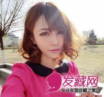 最新韩式短卷发 短发烫发发型设计图片