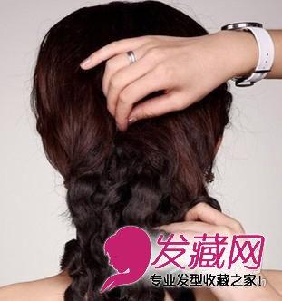 唯美的韩式新娘盘发发型 步骤图解(5)