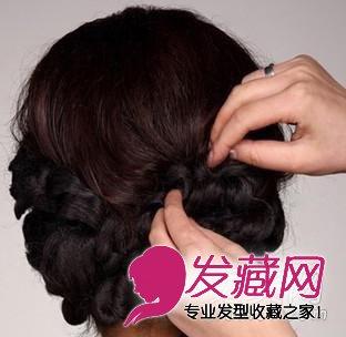 唯美的韩式新娘盘发发型 步骤图解(6)
