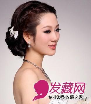 唯美的韩式新娘盘发发型 步骤图解(8)