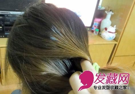 简单韩式盘发步骤 ol必备优雅发型(3)