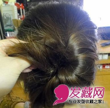 简单韩式盘发步骤 ol必备优雅发型(5)
