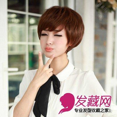 气质的短发烫发发型的设计 可爱俏皮又萝莉 →韩式齐肩微卷发发型