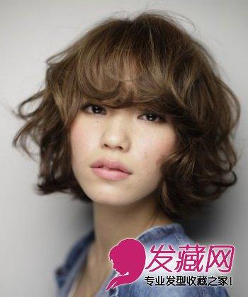 短发烫发发型图片