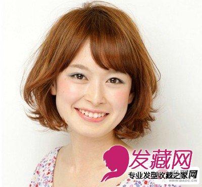 圆脸适合的发型 减龄短卷发魅力无穷图片