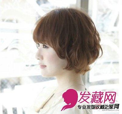 圆脸适合的发型 减龄短卷发魅力无穷(2)