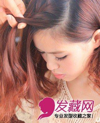 中长发型 > 长发刘海编发发型图解教程(4)  导读:刘海编发步骤3:要