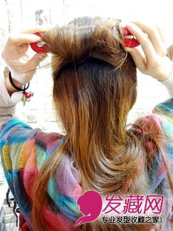 【图】 甜美丸子头扎发教程图解(5)_女生长发发型_发