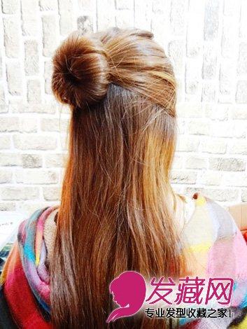娇俏的女生丸子头发型 →中长发怎么扎好看 夏季清爽丸子头扎法图解图片