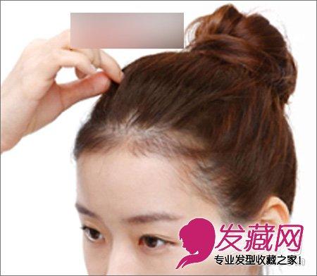 【图】丸子头怎么扎 图解马尾速变丸子头(7)_时尚发型图片