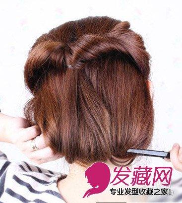 长发如何变短发 长发的扎法步骤图解(7)