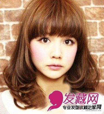 【图】最新女生中长内扣式烫发发型图片