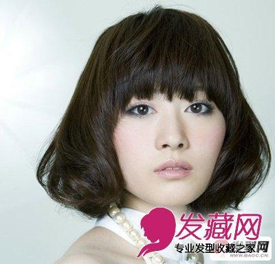 黑色系女生长短发烫发发型(3)图片