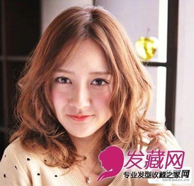 中长卷发中分发型 最新女生中分发型图片