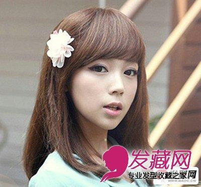 自然中长发发型图片 小脸女生发型图片欣赏(2)图片