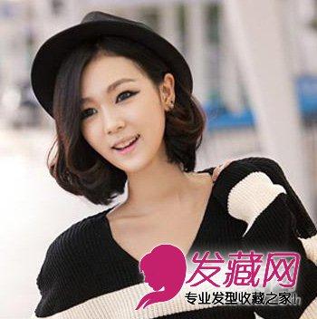齐刘海的韩式短卷发发型 春季最新款韩式短卷发(4)