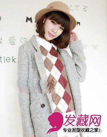 清新甜美的内扣短发,灵动优雅,而又有知性淑女气质,内扣弧度齐刘海图片