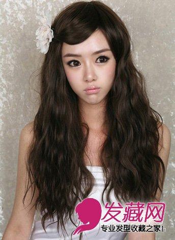 春季最流行的泡面头发型 发少mm也适合图片