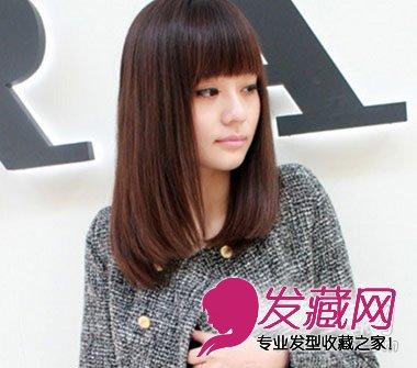 发型网 发型设计 直发发型 > 清纯系中长直发 春季留什么发型好看(5)