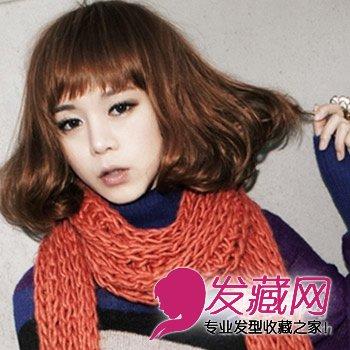 小清新感短发发型 好看齐刘海的中短发发型(4)