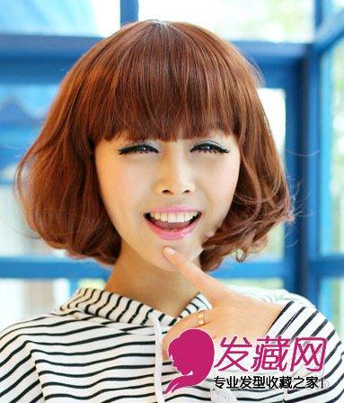 超可爱韩式短卷发 打造萌感的流行发型