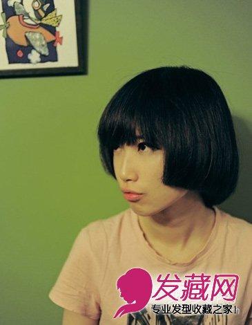 文艺复古气质的蘑菇头短发发型(3)