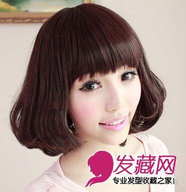 圆脸女生不可错过的 中短发发型(5)