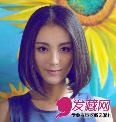 圆脸女生不可错过的 中短发发型(6)